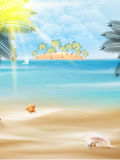Beautiful seaside view on sunny day with sand. Stock Photos