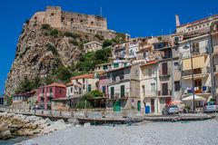 The beautiful seaside village of Scilla, Italy. Scilla, Italy - Laying just in front of Sicily, Scilla is one of the most beautyful seaside villages of Italy royalty free stock photography