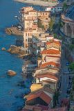 The beautiful seaside village of Scilla, Italy. Scilla, Italy - Laying just in front of Sicily, Scilla is one of the most beautyful seaside villages of Italy stock photo