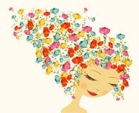 Beautiful season woman abstract hair design elements Stock Photography