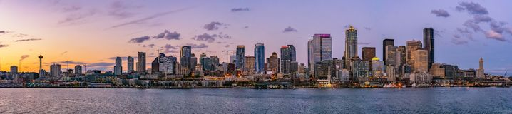 Beautiful Seattle skyline or cityscape stock images