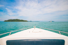 Beautiful seaview from speedboat Royalty Free Stock Image