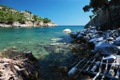 Beautiful seaview. On the Thassos island, Greece Stock Photo
