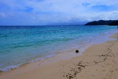 Beautiful  secluded beach on the Boracay island in Philippines Royalty Free Stock Photo