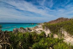 Beautiful Secluded Bermuda Beaches. Beautiful and secluded south shore Bermuda beaches and coastline Royalty Free Stock Photography