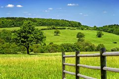 Beautiful secluded spring countryside stock images