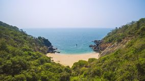 Beautiful secret beach Butterfly. Goa touristic state in India Royalty Free Stock Images