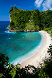 The beautiful secret beach on the tropical island Royalty Free Stock Photos