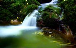 A beautiful secret Scottish waterfall. Royalty Free Stock Image