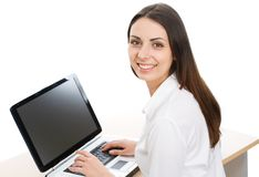 Secretary Female Typing On A Computer Keyboard Stock Photo - Image ...