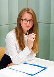 Beautiful secretary woman Stock Image