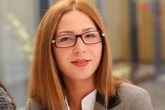 Beautiful secretary woman royalty free stock photography