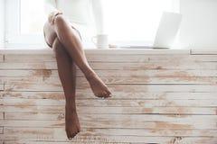 Beautiful seductress. Royalty Free Stock Photo