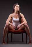 Beautiful self-confident woman posing Royalty Free Stock Image