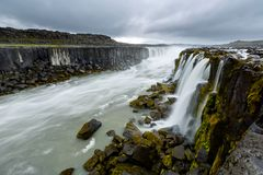 Beautiful Selfoss waterfall in Iceland.  Stock Images