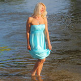 Beautiful senior blonde woman Royalty Free Stock Photos