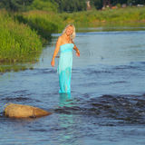 Beautiful senior blonde woman Stock Images