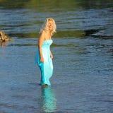 Beautiful senior blonde woman Stock Photography