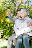 Beautiful senior couple Stock Images