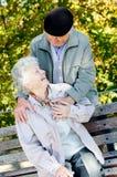 Beautiful senior couple royalty free stock images