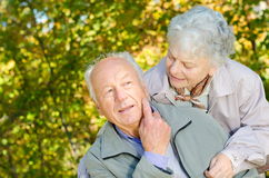 Beautiful senior couple Stock Photo