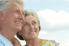 Beautiful senior couple Stock Photography