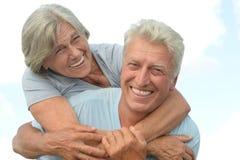 Beautiful senior couple Stock Photos