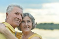 Beautiful senior couple outdoors Stock Image