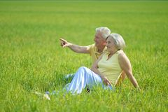 Beautiful senior couple Royalty Free Stock Image