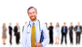 Beautiful senior doctor Stock Image