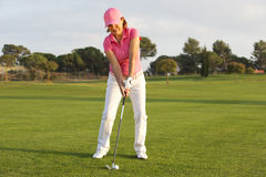 Beautiful senior female golf player Stock Photography