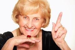 Beautiful senior lady Stock Photography