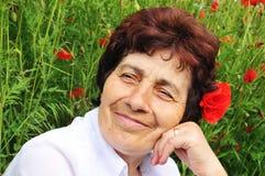 Beautiful senior woman royalty free stock image