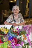 Beautiful senior woman celebrating her birthday Stock Photo