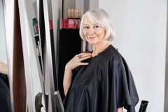 Beautiful Senior Woman At Hair Salon Stock Image