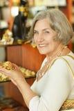 Beautiful senior woman Stock Image