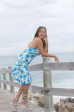 Beautiful senior woman in high heels outdoor Royalty Free Stock Image