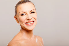 Senior woman makeover Royalty Free Stock Photography
