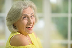 Beautiful senior woman. Portrait of a beautiful senior woman close up Stock Photography