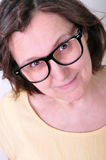 Beautiful senior woman wearing glasses Stock Images