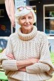 Portrait of Pretty Senior Woman stock image