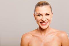 Senior woman makeup. Beautiful senior woman wearing makeup Royalty Free Stock Images