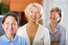 Beautiful senior women Stock Photos