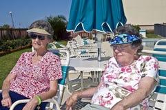 Beautiful Senior Women Outside stock images