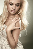 Beautiful sensitive blond woman Stock Photo