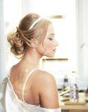 Beautiful sensual bride Royalty Free Stock Image