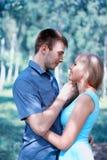 Beautiful sensual couple in love Stock Photo
