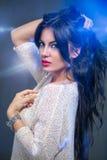 Beautiful sensual girl with long hair Stock Photos