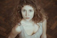 Beautiful, sensual girl stock images