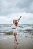 Beautiful sensual girl in water Stock Photo
